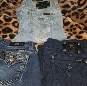 Miss me jeans size 30 - three pairs